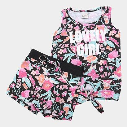Conjunto Infantil Kiko & Kika Floral Lovely Girl Feminino
