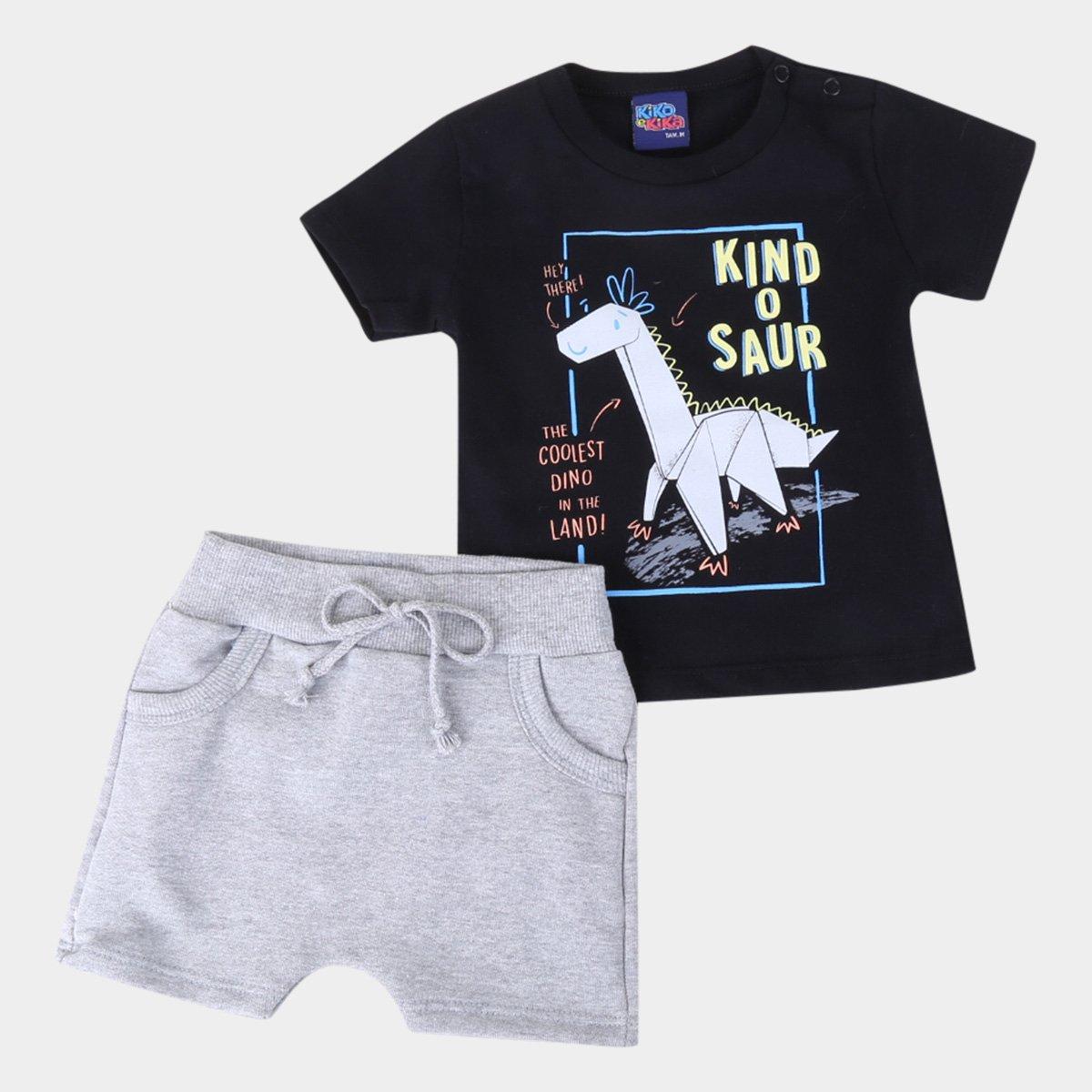 Conjunto Infantil Kiko & Kika Kind O Saur Masculino