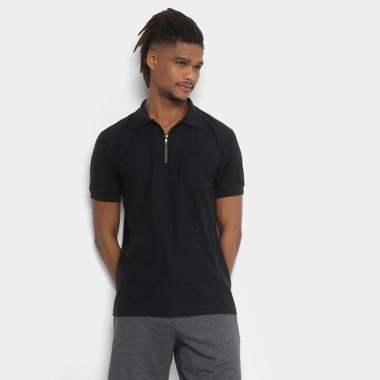 77f9d53a8a Camisa Polo Tigs com Zíper Manga Curta Masculina - Preto - Compre ...