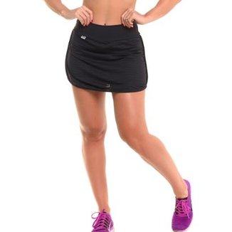2617560e8 Short Saia em poliamida Short Saia com Sandy Fitness Jogging Feminino