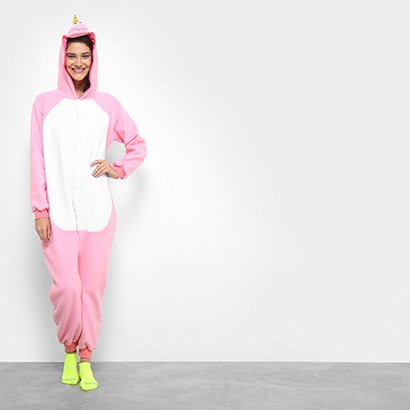 Pijama Infantil Kigurumi Unicórnio 3D Feminino