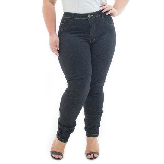 116569e64f399f Calça Jeans Confidencial Extra Plus Size Legging Básica Feminina - Preto