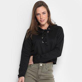 Blusa De Moletom MS Fashion Capuz Feminina 5a98512250980