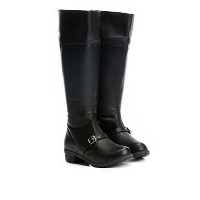Bota Infantil Cano Alto Menina Fashion Over The Knee Feminina