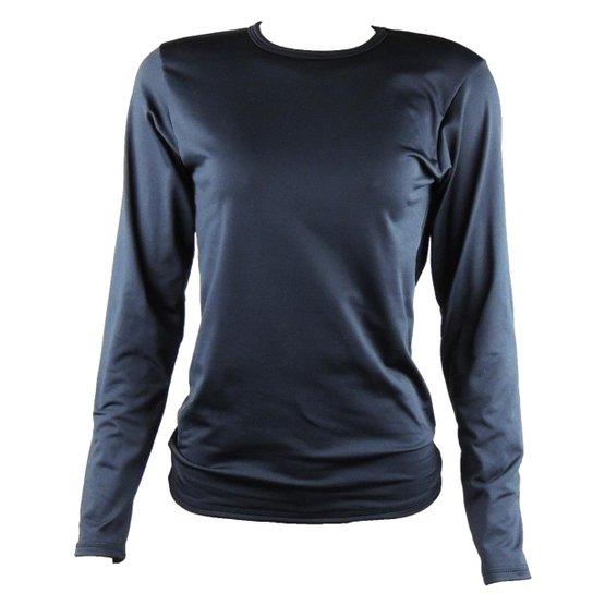 Camisa Térmica Feminina Segunda Pele Thermo Premium - Preto - Compre ... 3a6b19111b931