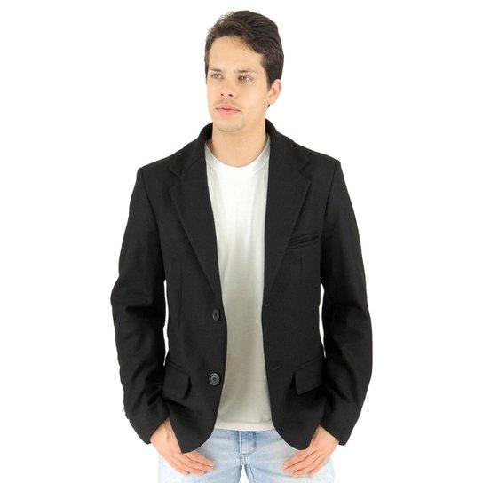 d07ab09fc Blazer Masculino Tóquio em Lã Uruguaia Premium - Preto   Netshoes