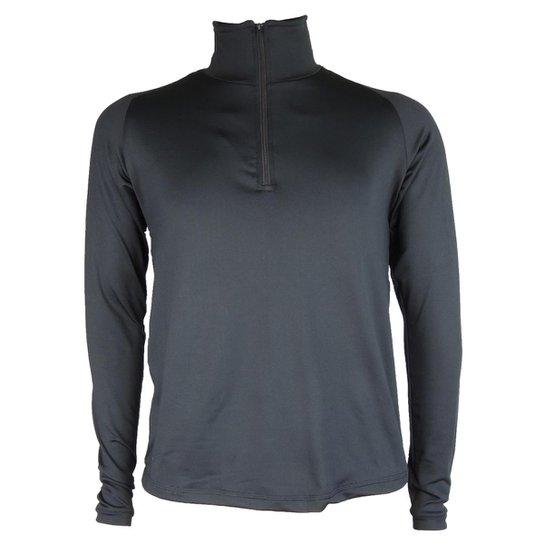 Camisa Térmica Masculina Seg. Pele Meio Zíper Thermo Premium - Preto ... a38839cfa1d0a