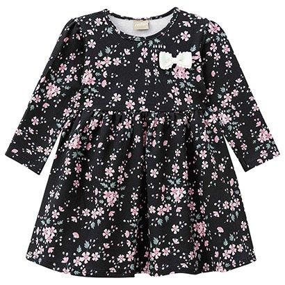 Vestido Infantil Milon Manga Longa Floral