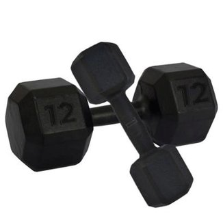 Dumbbell Sextavado Crossfit- Enforce Fitness 26Kg 5f63f16fa1761