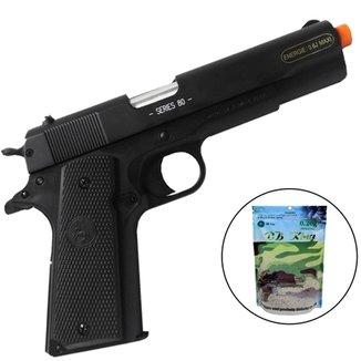 e1aa4dba4 Pistola Airsoft ALK Colt M1911A1 c/ 4000 Munições BBs
