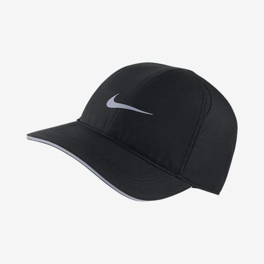 cef2ed9a2bcae Boné Nike Aba Curva Featherlight Run - Preto | Netshoes