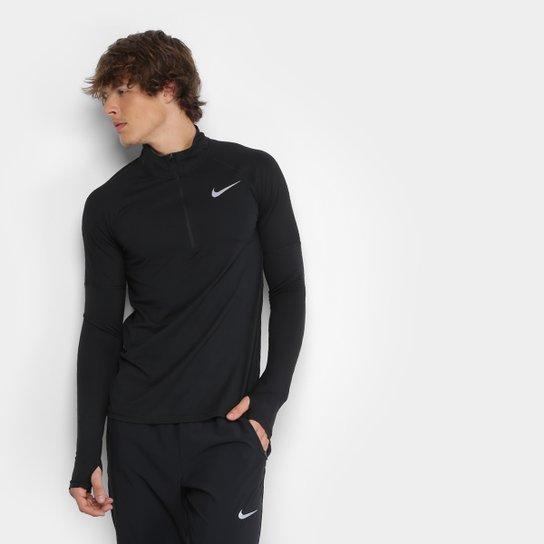Camiseta Nike Element Hz 2.0 Manga Longa Masculina - Preto - Compre ... dbe7d7da61085
