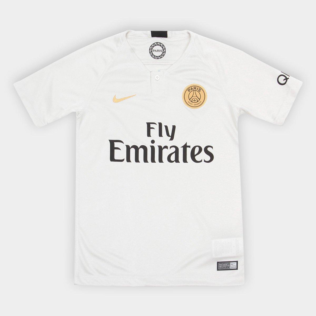 14486f12a Camisa Paris Saint-Germain Infantil Away 2018 s n° - Torcedor Nike ...