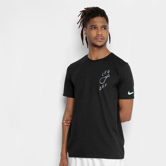 Camiseta Nike Dry Leg Day Masculina - Preto - Compre Agora  0e9ec59a2d15f