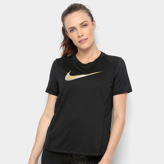 b5322ab321 Camiseta Nike DRI-FIT Miler Metallic Feminina | Netshoes