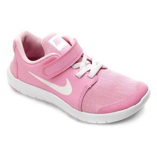 a6304fec56 Tênis Infantil Nike Flex Contact 2 Feminino - Rosa e Branco - Compre ...