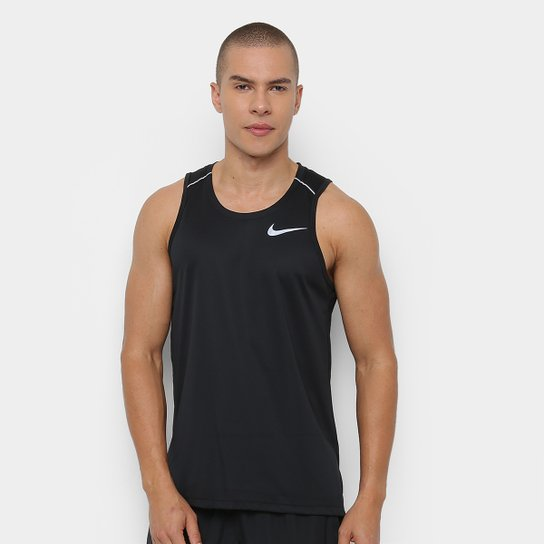 67a93fbc83 Regata Nike DRI-FIT Miler Masculina - Preto