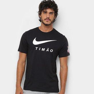 Camiseta Corinthians Nike Large Swoosh Masculina 66efa1c3db86f