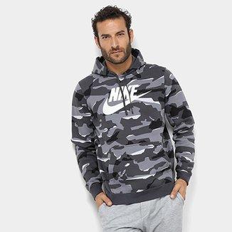 Moletom Nike Club Camo Hoodie Camuflado com Capuz Masculino b174617fffa