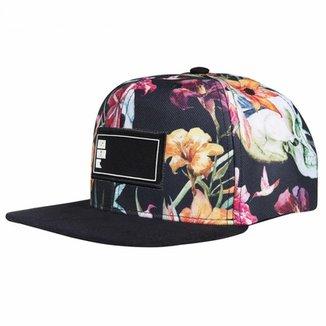 Boné Aba Reta Snapback Hoshwear Floral Caveiras f8ee71b1410