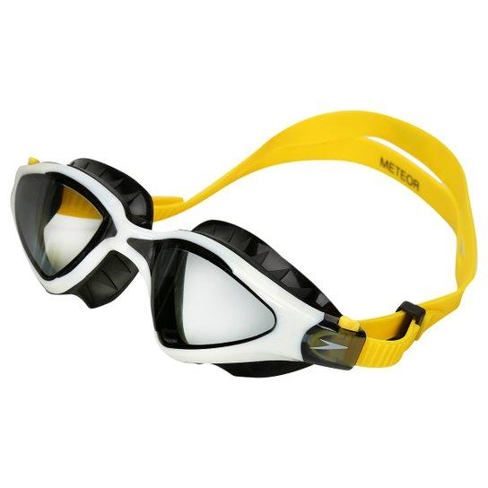 25d29075c7588 Óculos de Natação Speedo Meteor - Amarelo e Branco - Compre Agora ...