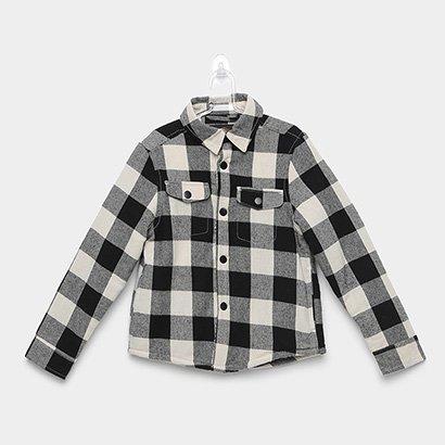 Camisa Xadrez Infantil Yachtmaster Flanelada Manga Longa Masculina