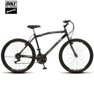 bac8f15fd Bicicleta Colli MTB CB500 Aro 26 36 Raias 21 Marchas Freios VBrake