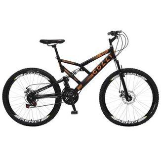 6e82ecc5f Bicicleta Colli Fulls GPS Freios a Disco Aro 26 Dupla Susp. 36 Raios 21  Marchas