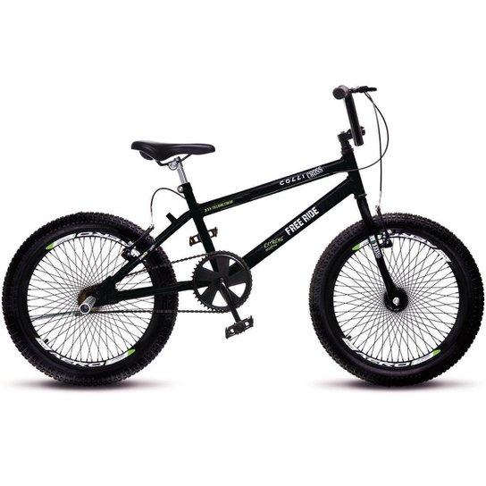a5862a7fb2d34 Bicicleta Colli Bmx Cross Extreme Aro 20 Aero 72 Raios - Preto ...
