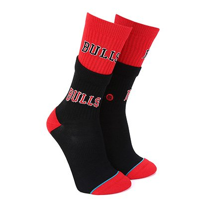Meia Stance NBA Chicago Bulls Arena Collection Double Double Masculina