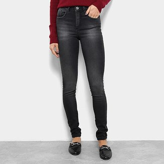24d1f7034b Calça Jeans Skinny Razon Estonada Cintura Média Feminina