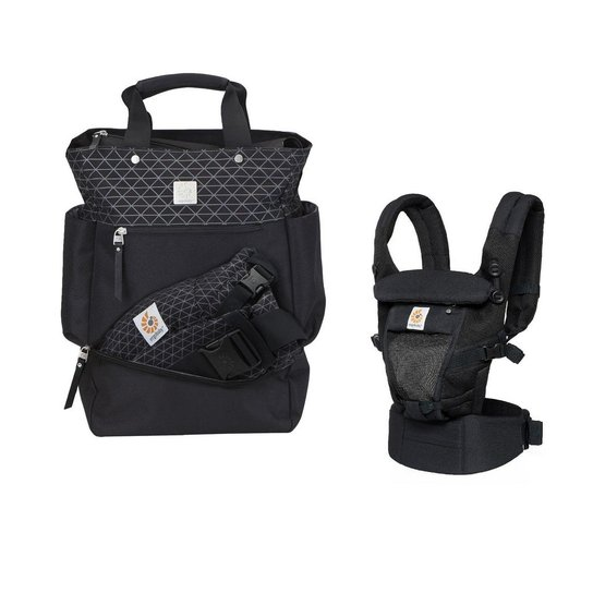 0f6c50859 Kit Bolsa Maternidade Ergobaby + Canguru Adapt - Preto | Netshoes