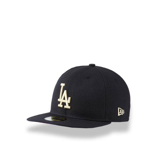 c0dbda582f Boné 5950 Los Angeles Dodgers MLB Aba Reta New Era - Preto | Netshoes