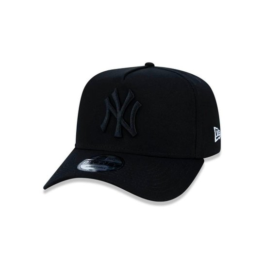 Boné 940 New York Yankees MLB Aba Curva Snapback New Era - Preto ... 27b0fdffc8a