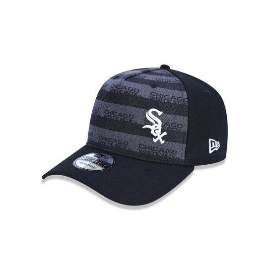 Boné 940 Chicago White Sox MLB Aba Curva New Era - Preto - Compre ... c0563458a26