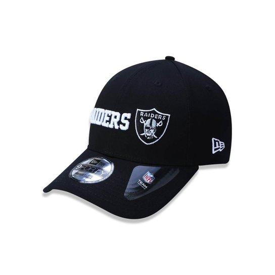 Boné 940 Oakland Raiders NFL Aba Curva Snapback New Era - Preto ... f33d3075d07