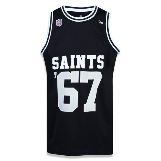 6d4c60d47 Regata New Orleans Saints NFL New Era Masculina - Preto - Compre ...