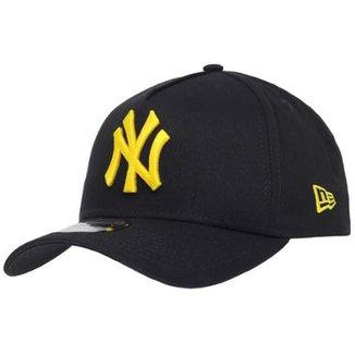 Boné New Era Aba Curva Sn Mlb Ny Yankees Af Blk 87e7c455950