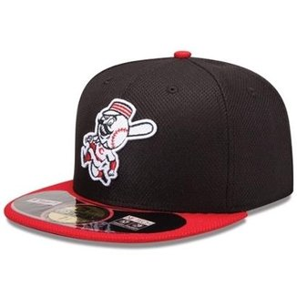 Boné New Era Aba Reta Fechado Mlb Cincinnati Diamond Era 2aef0dd864c