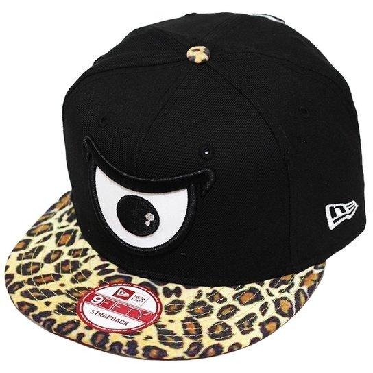 52b6010d0e407 Boné New Era Aba Reta Strapback Brand Animal Print Eyes - Compre ...