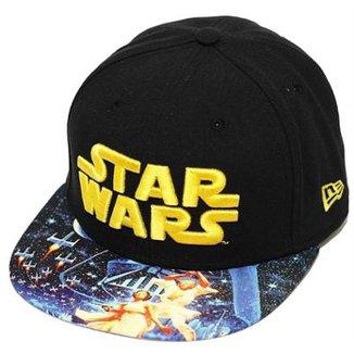 Boné New Era Aba Reta Fechado Star Wars Viza Print Empire 8bf5032d9a