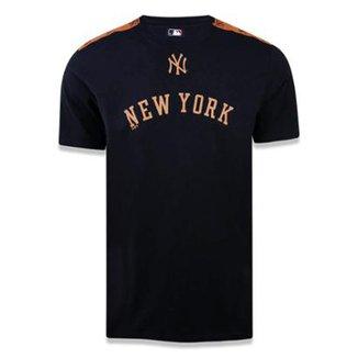 7b729b12e1 Camiseta New York Yankees MLB Preto New Era