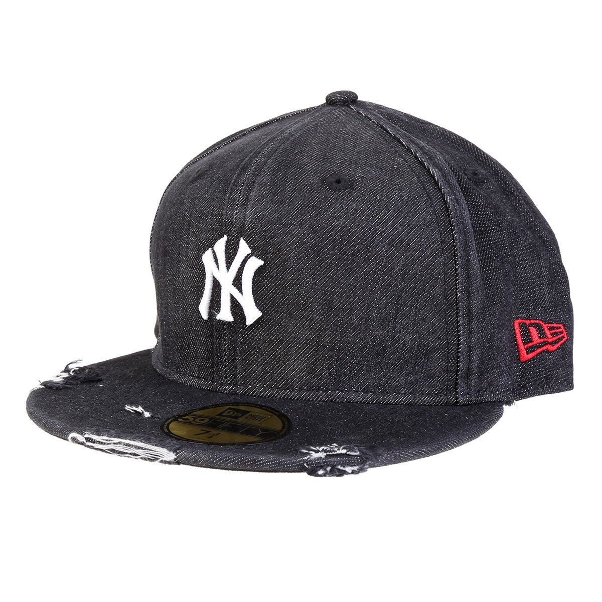 Boné New Era MLB New York Yankees Denin Logo Aba Reta