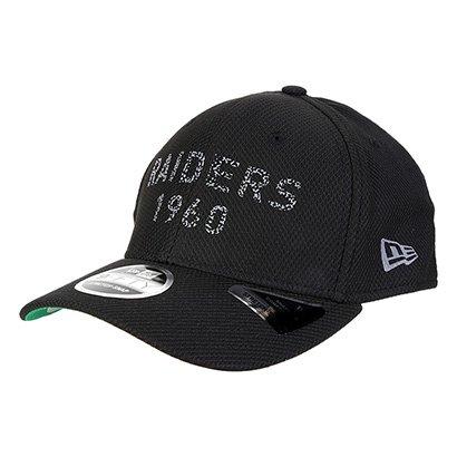 Boné New Era NFL Oakland Raiders Monotone Puff Aba Curva