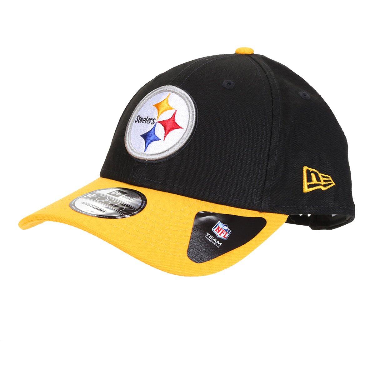Boné New Era NFL Pittsburgh Steelers Aba Curva Snapback 940 Team Color