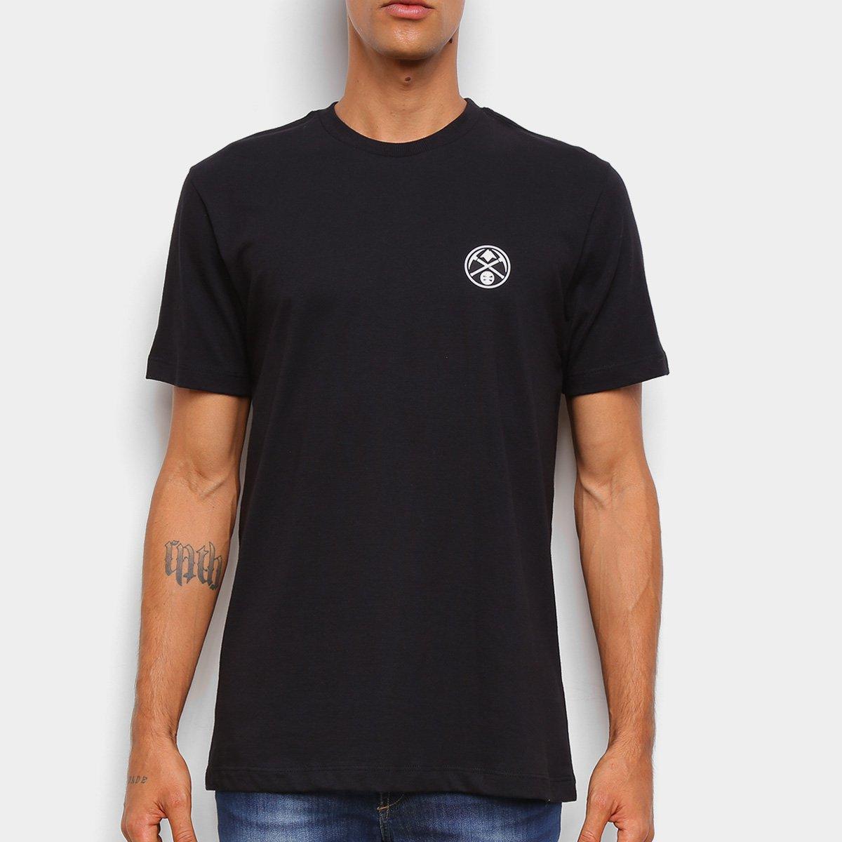 Camiseta Black Pack NBA Denver Nuggets New Era Logo Dennug Masculina