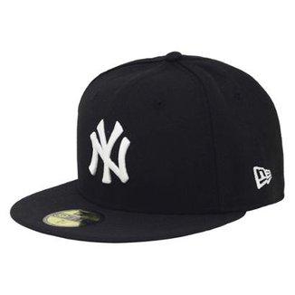 193d7bd7acda7 Boné New Era Aba Reta Fechado Mlb Ny Yankees Basic Colors