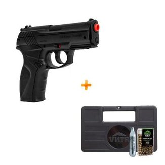 Pistola de Pressão a Gás CO2 C11 Wingun 4.5mm +