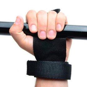 f394fac04f Luva Hand Grip Crossfit Pull Up Couro Para Mãos Musculação