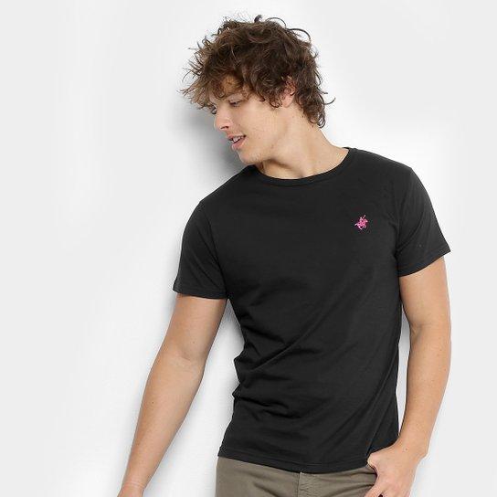 ffebed89f9 Camiseta Polo UP Gola Careca Masculina - Preto